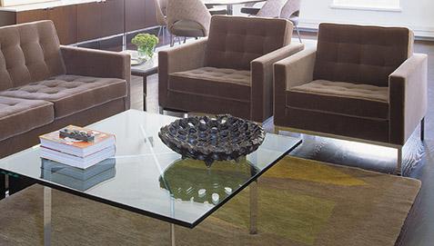Barcelona Couchtisch Quadratisch Glas Ludwig Mies Van Der