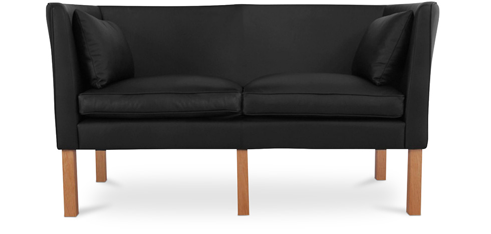 skandinavisches design sofa 2214 zweisitzer b rge mogensen hochwertiges leder. Black Bedroom Furniture Sets. Home Design Ideas