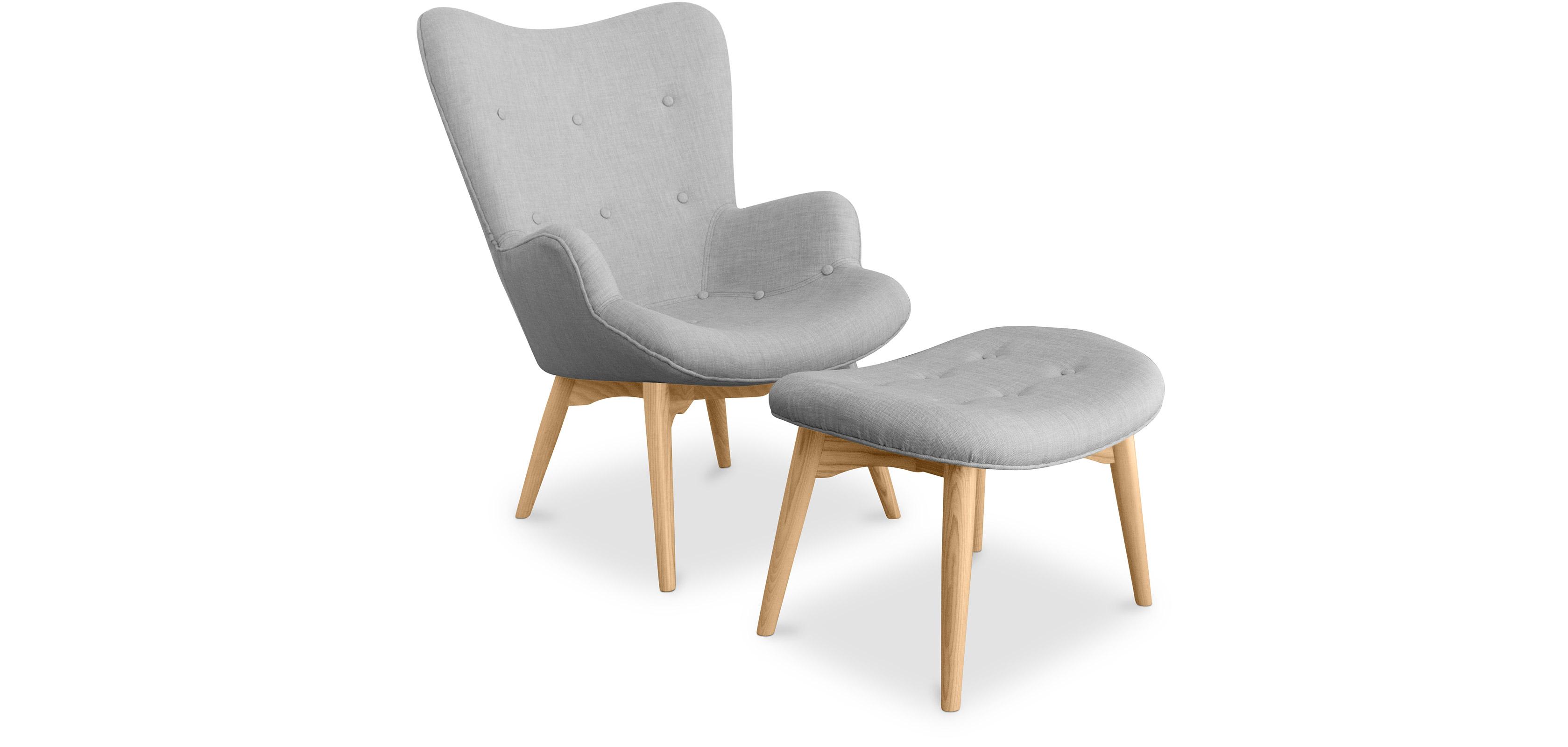 Kontor sessel und fu bank skandinavisches design - Sessel skandinavisches design ...