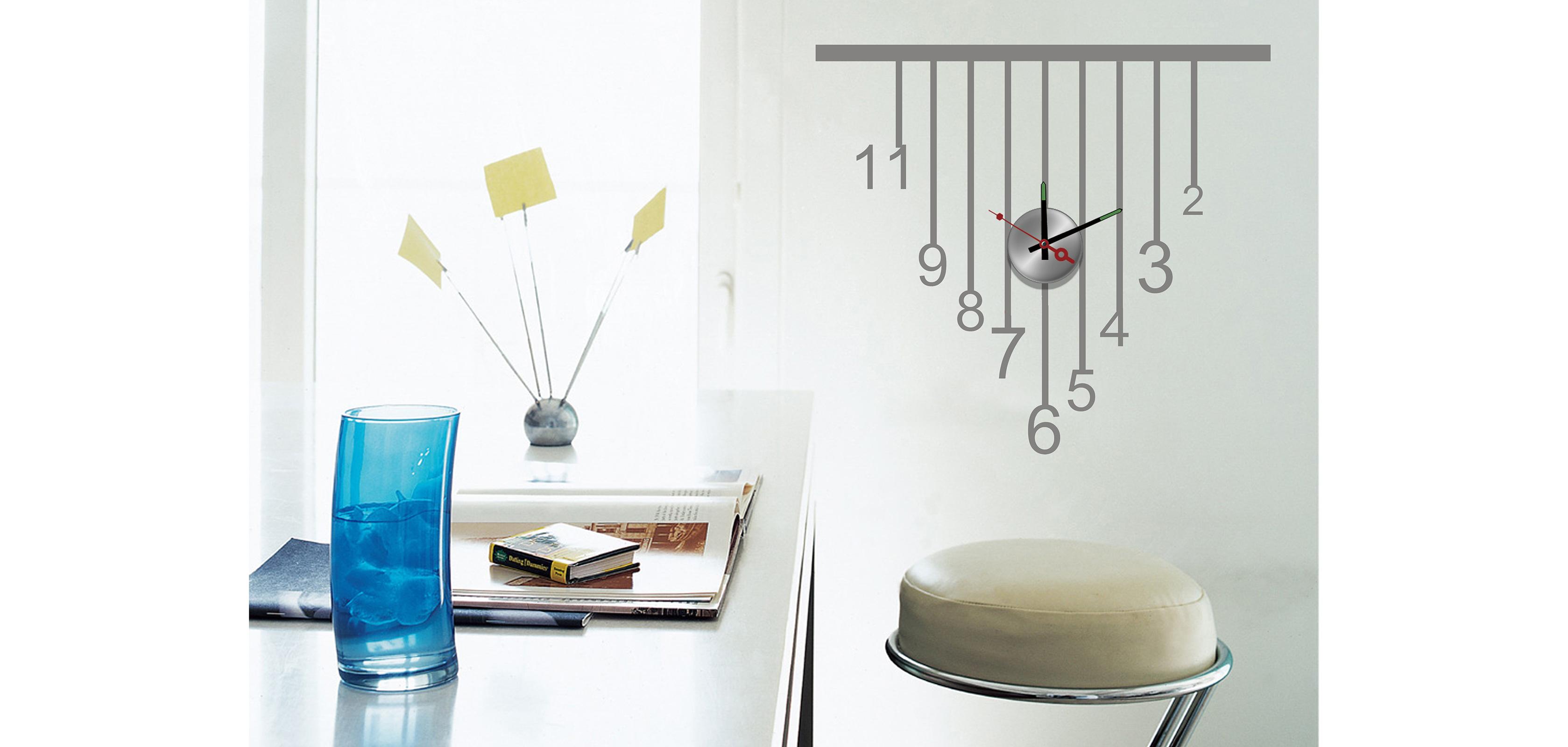 Design Aufkleber Wanduhr Hanging