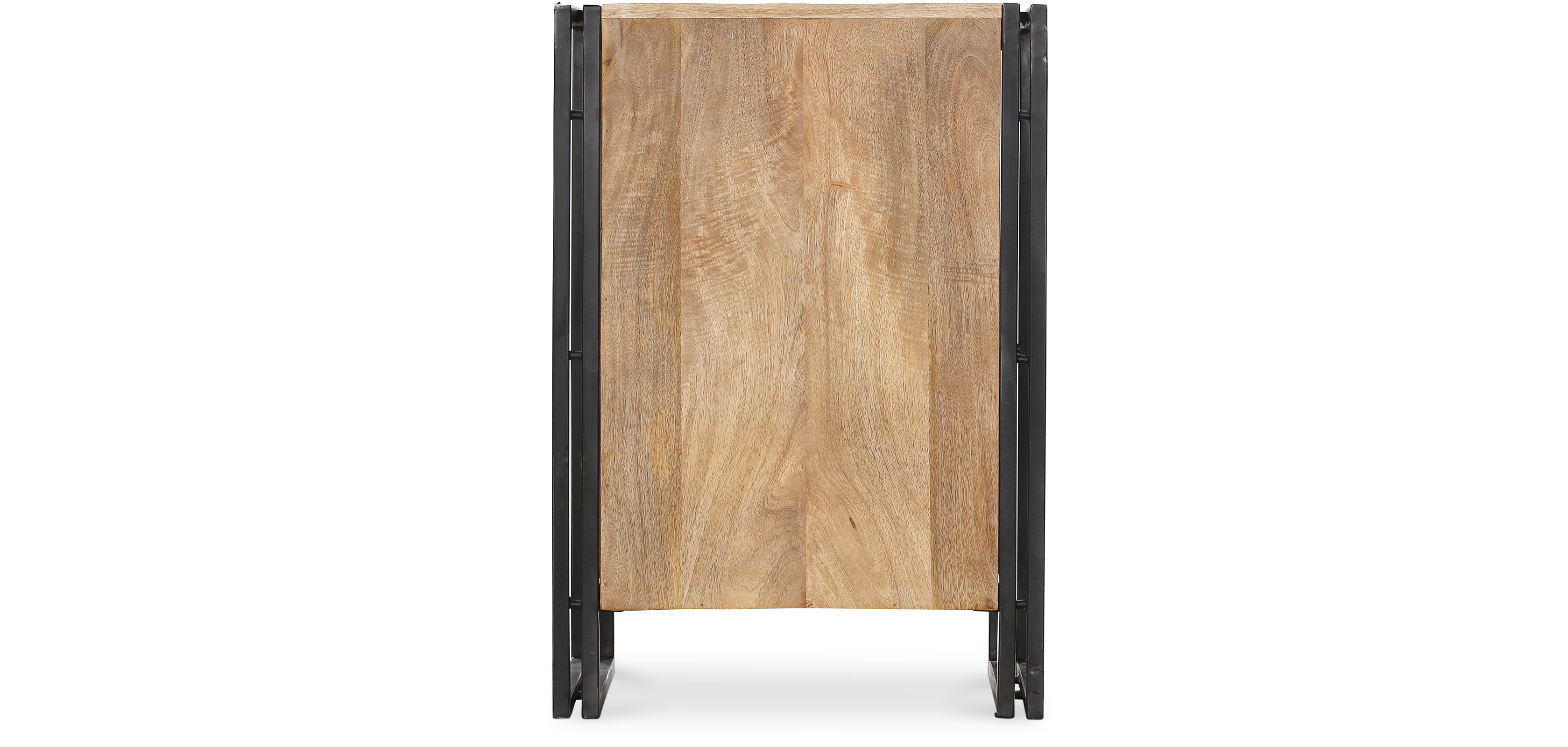 vintage industrial syle holz und metall nachttisch. Black Bedroom Furniture Sets. Home Design Ideas