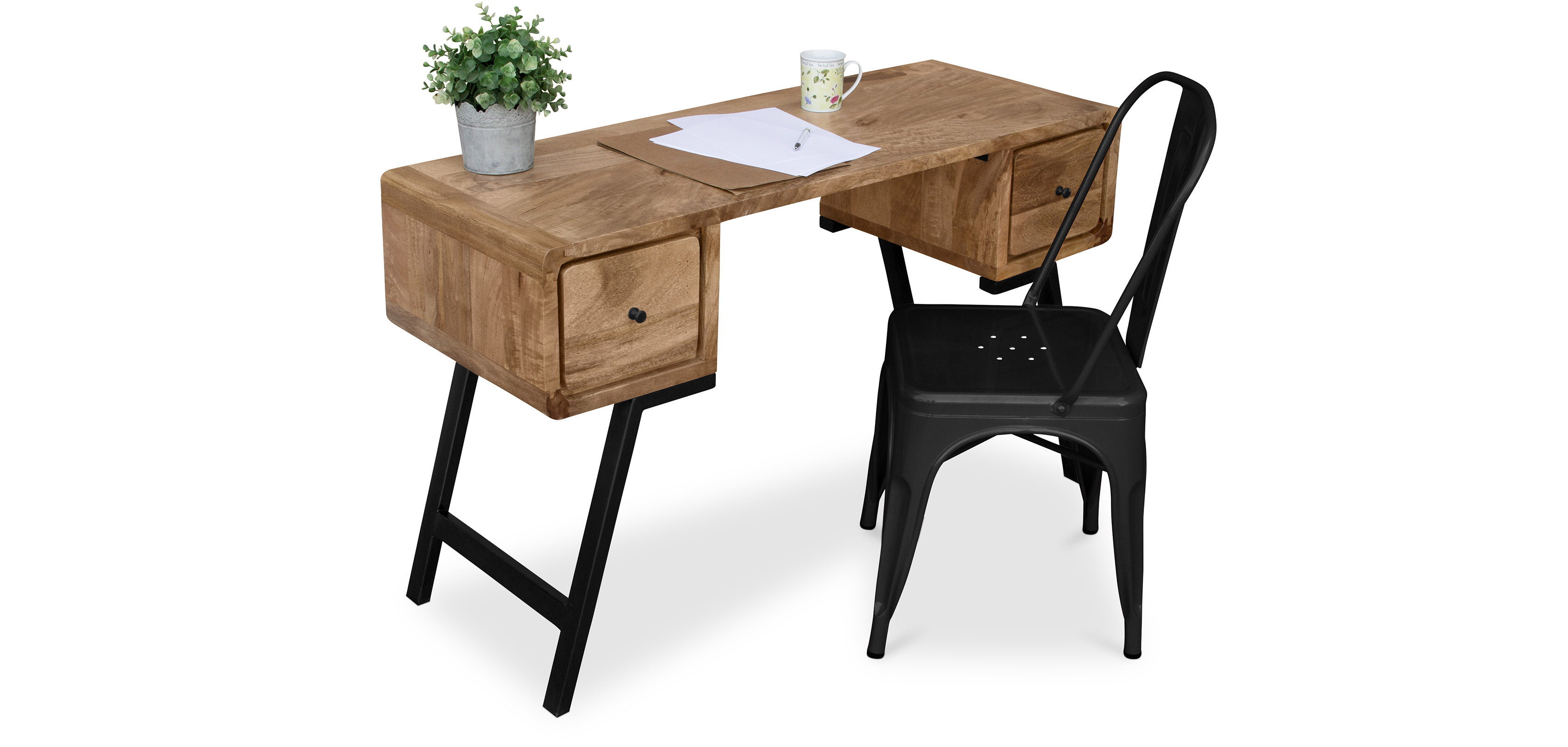 industrial stil designer recyceltes holz schreibtisch jason. Black Bedroom Furniture Sets. Home Design Ideas