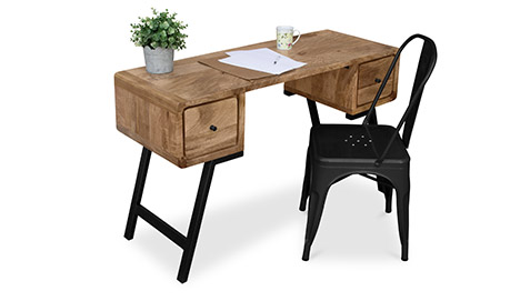 industrial designer recyceltes holz schreibtisch. Black Bedroom Furniture Sets. Home Design Ideas
