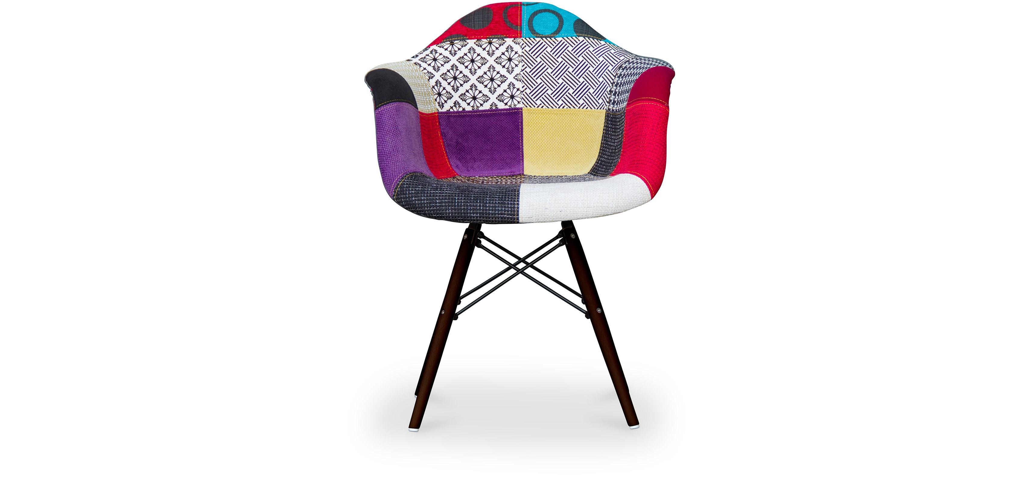 dunkle stuhlbeine daw stuhl charles eames style patchwork. Black Bedroom Furniture Sets. Home Design Ideas