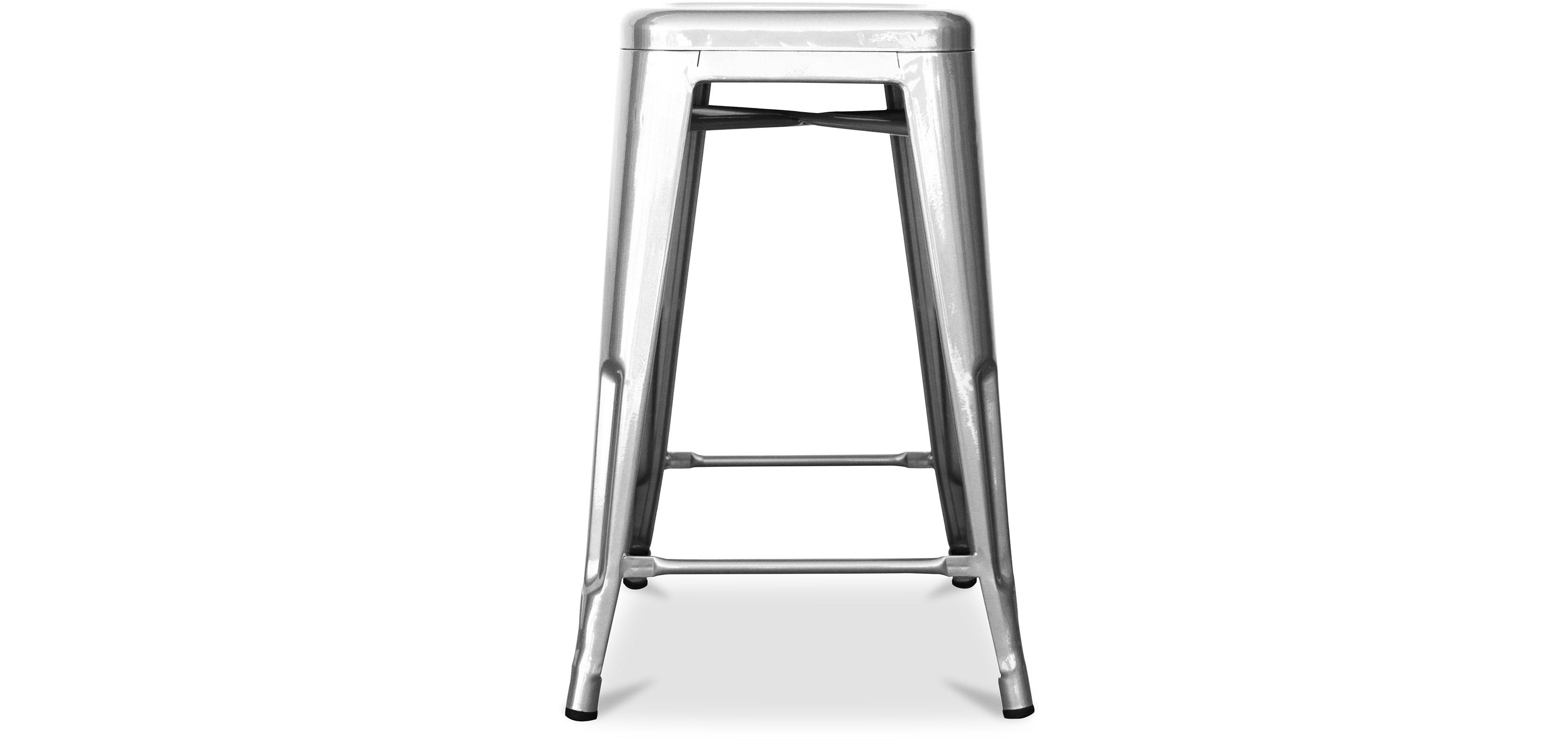 Tolix Hocker 60cm Xavier Pauchard Style - Chrom Metall