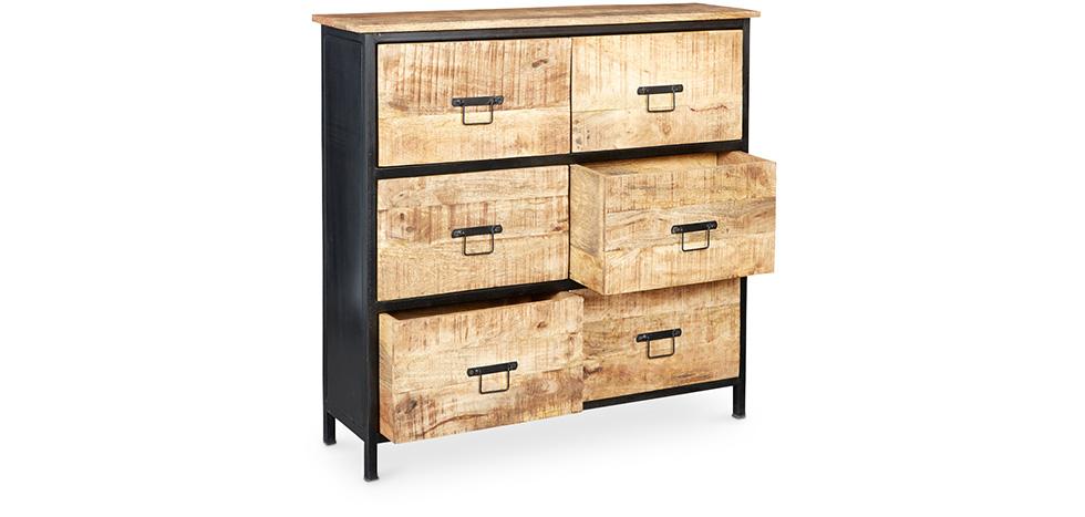 vintage industrial schubladen kommode. Black Bedroom Furniture Sets. Home Design Ideas
