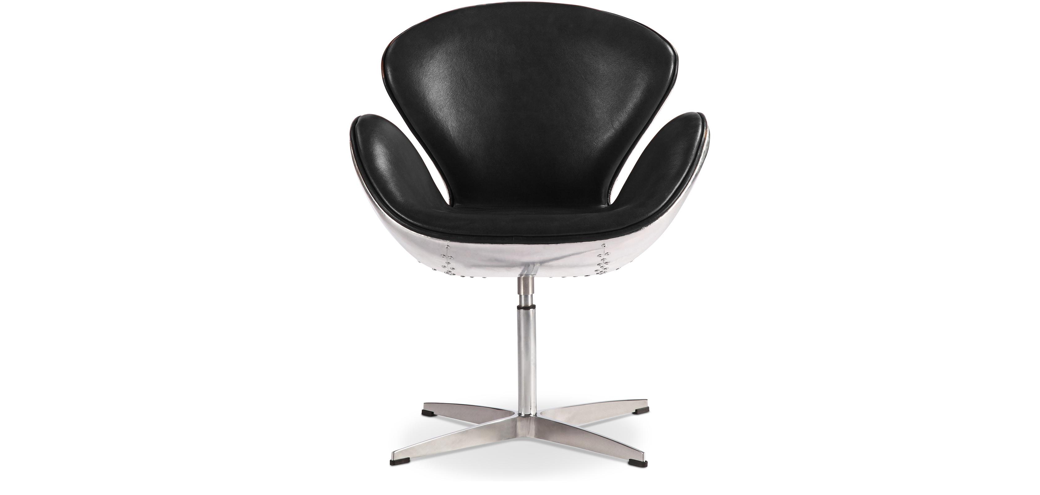 swan aviator sessel hochwertiges leder. Black Bedroom Furniture Sets. Home Design Ideas