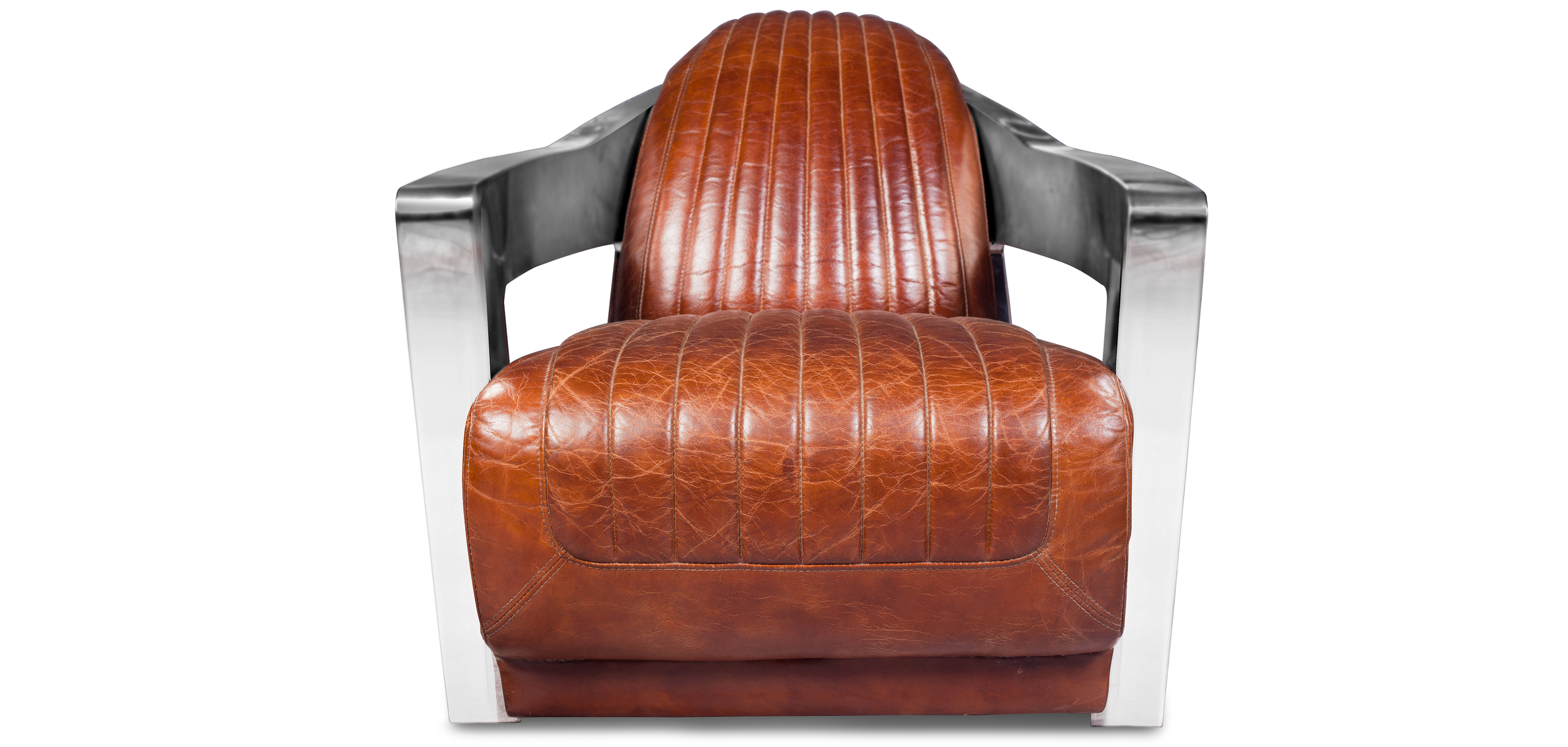 Design Sessel Churchill Lounge Hochwertiges Leder Stahl
