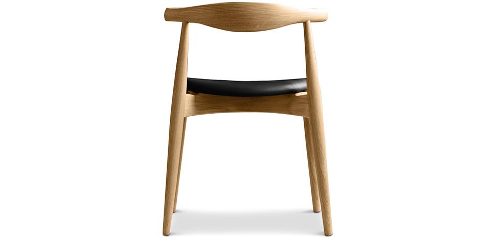 elb skandinavisches design stuhl cw20 hochwertiges leder. Black Bedroom Furniture Sets. Home Design Ideas