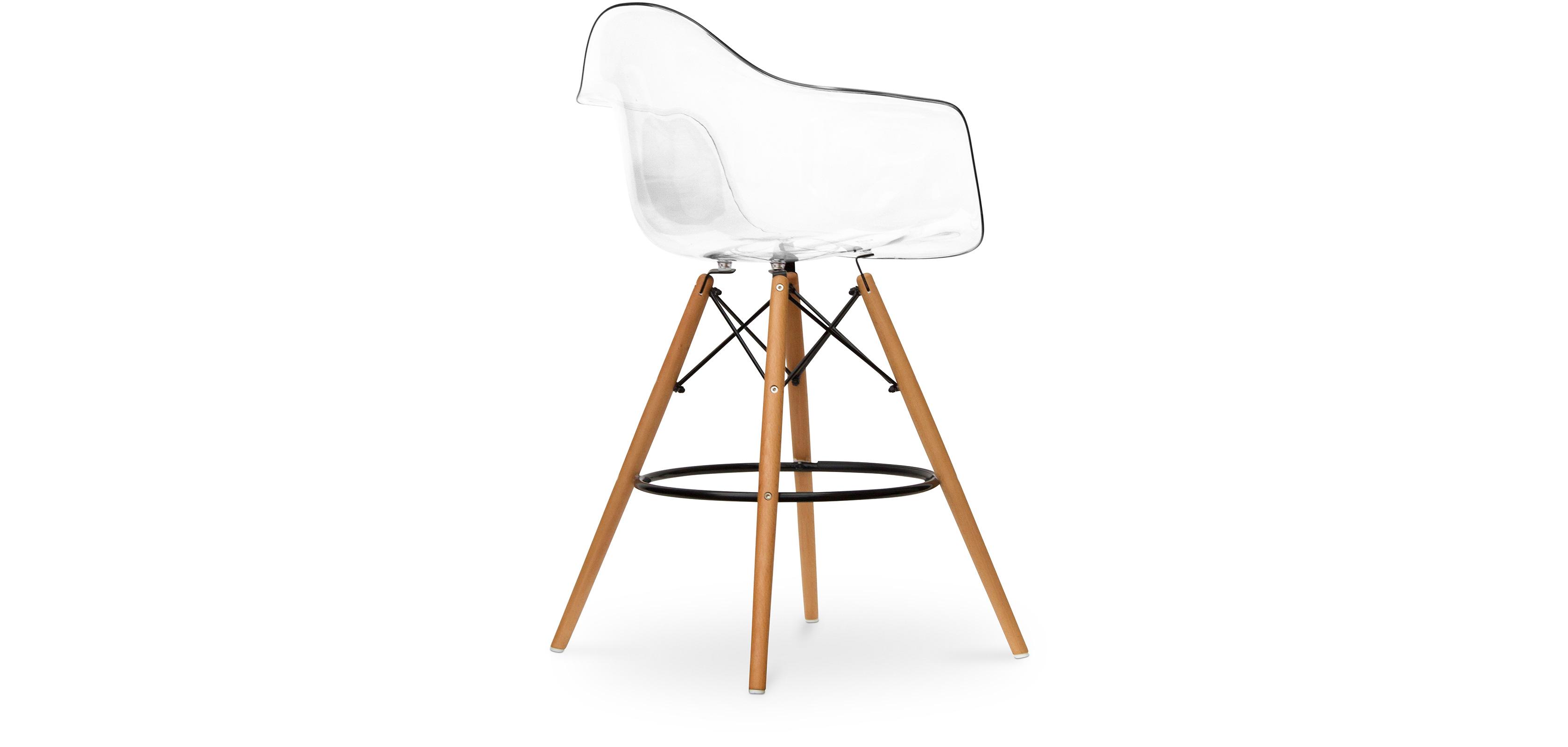 transparent daw barhocker charles eames. Black Bedroom Furniture Sets. Home Design Ideas