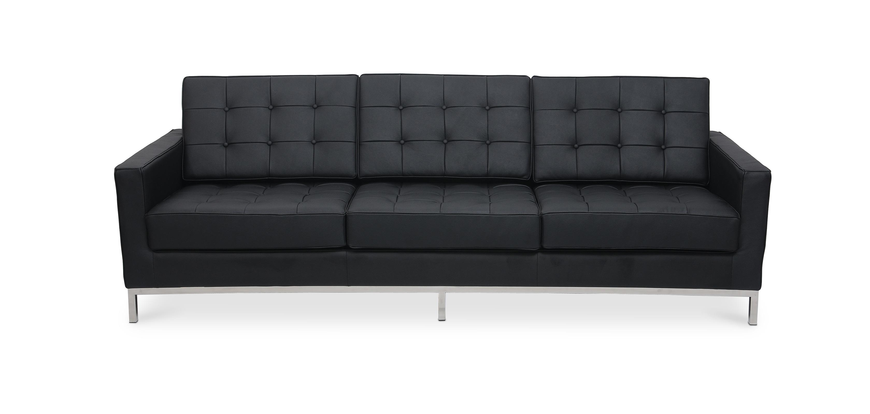Design Sofa - Florence Knoll (Dreisitzer) - Hochwertiges Leder