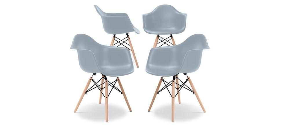 daw stuhl charles eames style set von 4. Black Bedroom Furniture Sets. Home Design Ideas