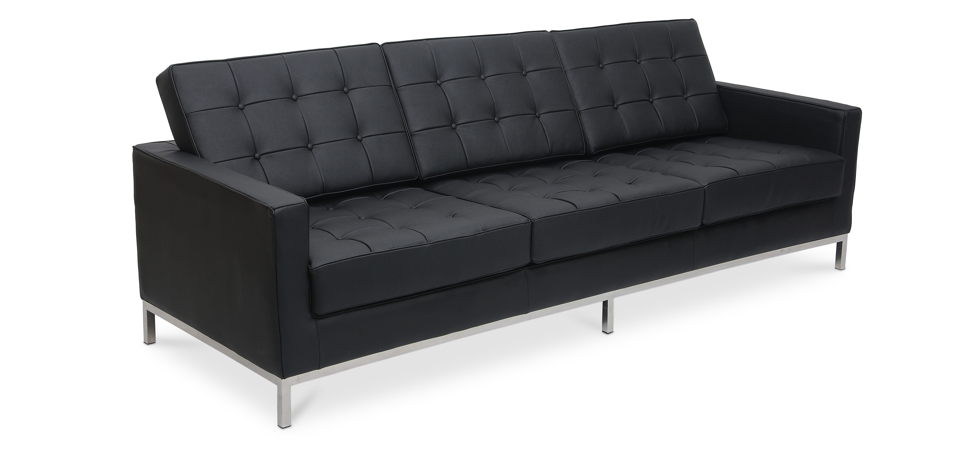 design sofa florence knoll dreisitzer hochwertiges leder. Black Bedroom Furniture Sets. Home Design Ideas