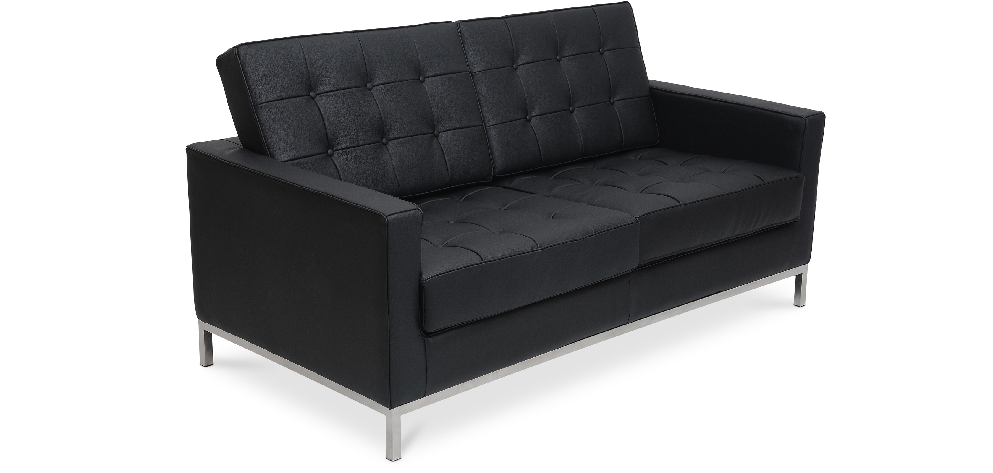 design sofa florence knoll zweisitzer hochwertiges leder. Black Bedroom Furniture Sets. Home Design Ideas