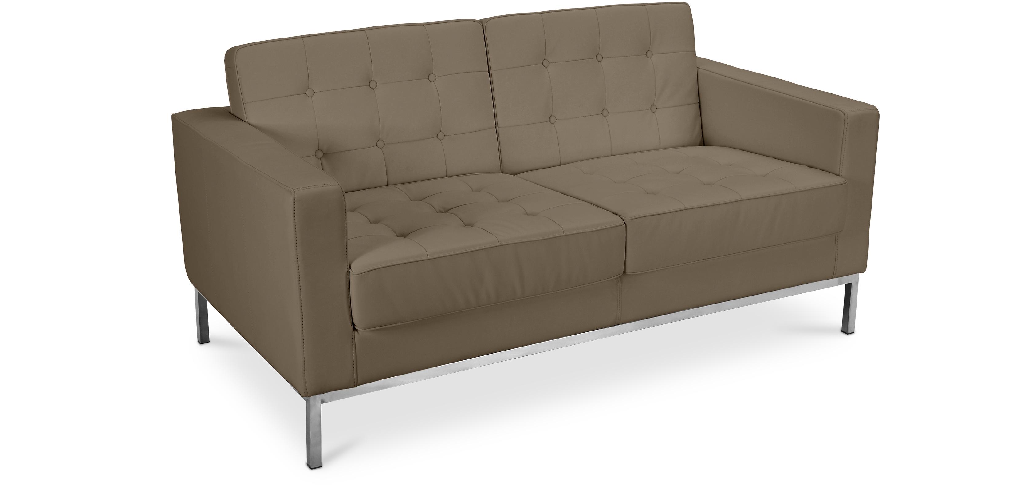 design sofa florence knoll zweisitzer hochwertiges leder. Black Bedroom Furniture Sets. Home Design Ideas