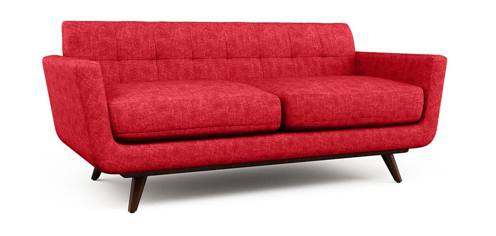 skandinavisches sofa 2 sitzer stoff. Black Bedroom Furniture Sets. Home Design Ideas