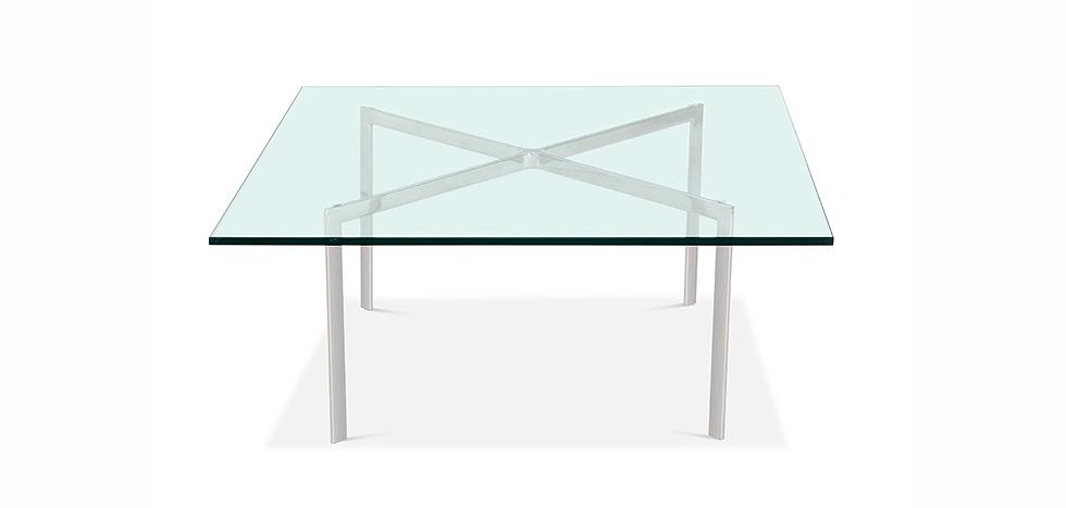 Barcelona Couchtisch Quadratisch 15mm Glas Ludwig Mies Van Der