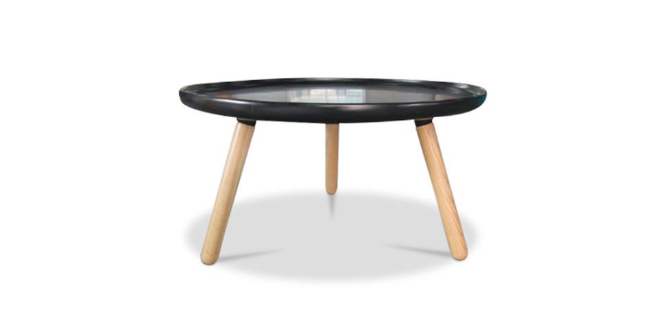 scandinavian syle runder couchtisch schwarz fiberglass. Black Bedroom Furniture Sets. Home Design Ideas