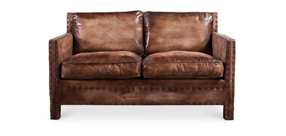 Ecksofa vintage leder  2 Sitzer Vintage leder sofa - Madison