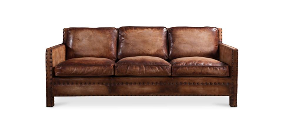 3 sitzer sofa vintage leder. Black Bedroom Furniture Sets. Home Design Ideas