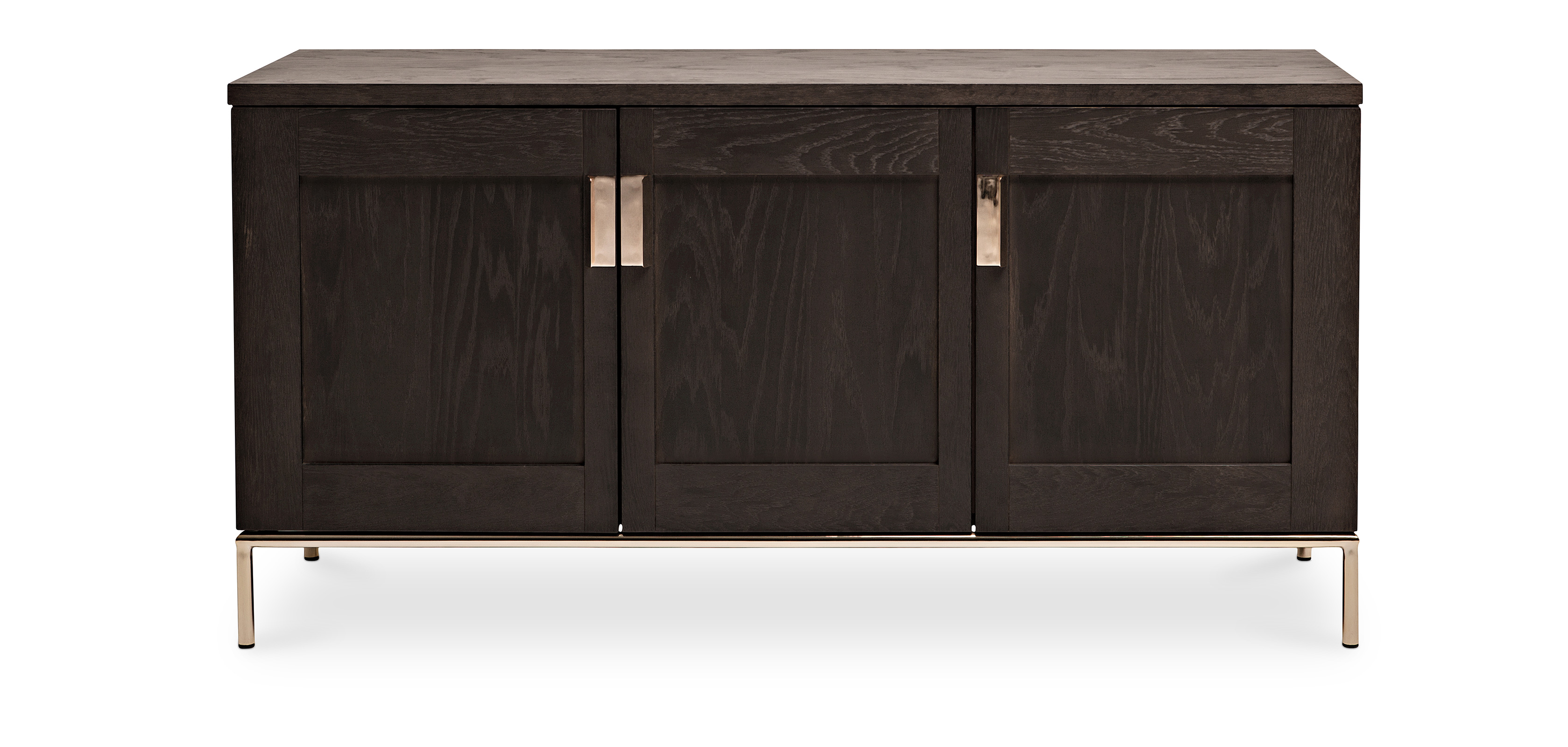 zuri sideboard aus holz dunkel. Black Bedroom Furniture Sets. Home Design Ideas