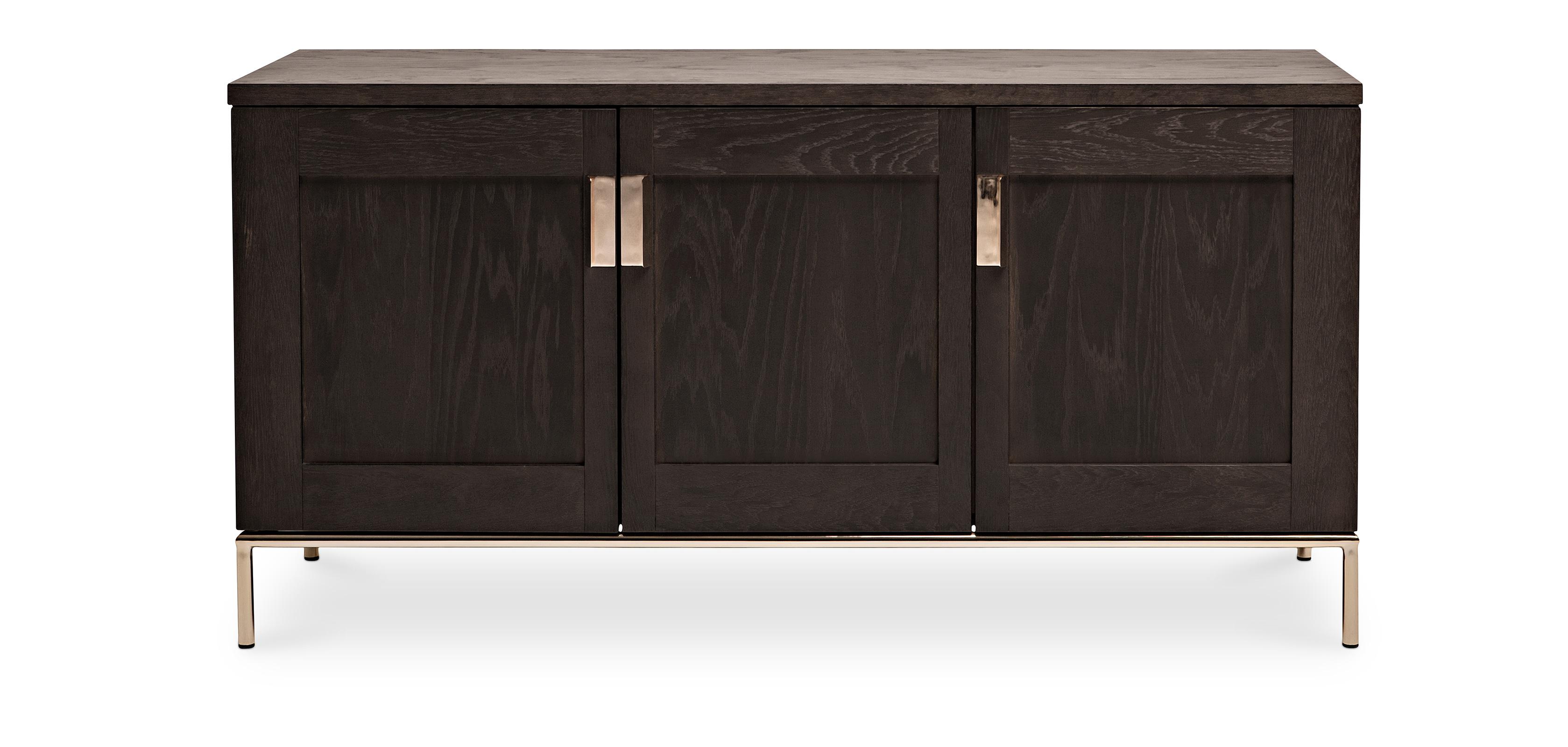 zuri sideboard aus holz dunkel. Black Bedroom Furniture Sets. Home Design Ideas