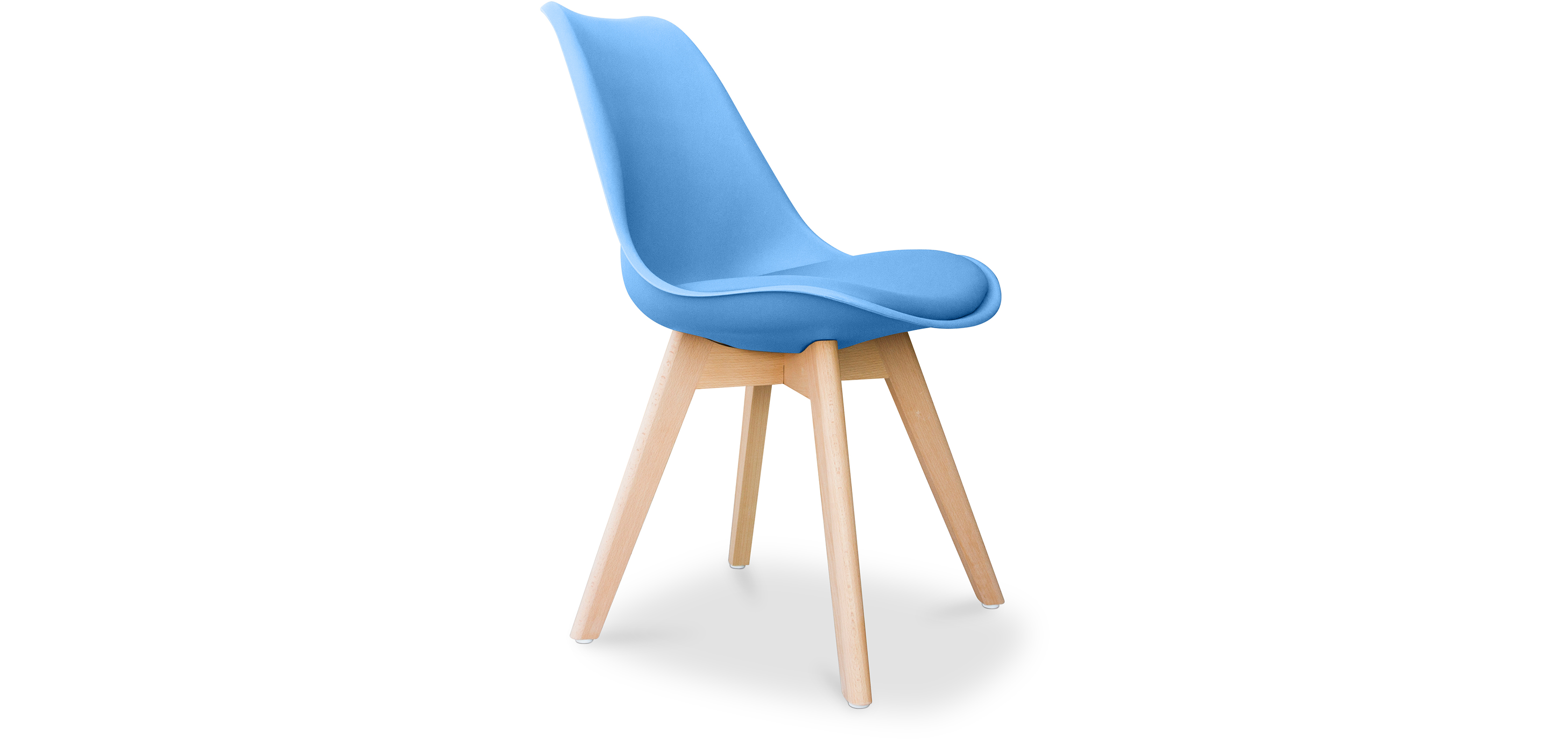 Geneva stuhl mit kissen skandinavisches design kunststoff for Stuhl skandinavisches design