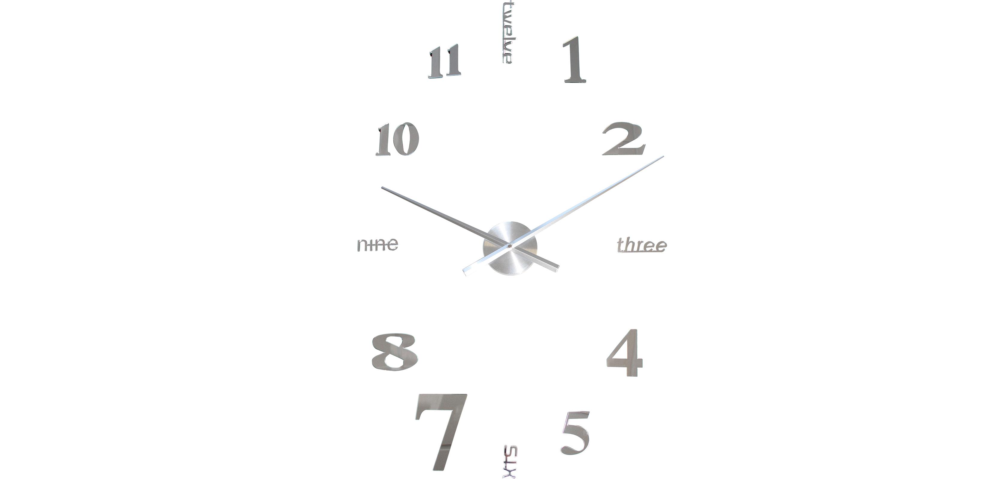 Zahlen und Buchstaben Wanduhr