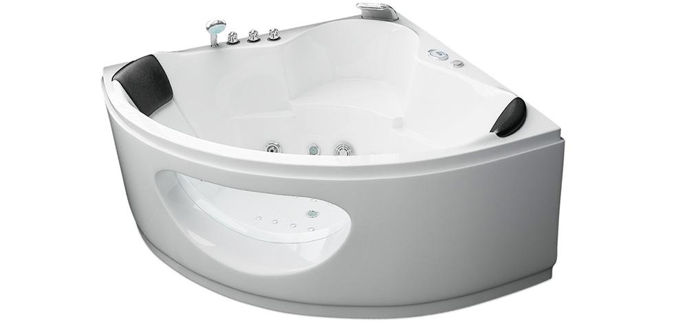 22 jets spa jacuzzi whirlpool eckig wei. Black Bedroom Furniture Sets. Home Design Ideas